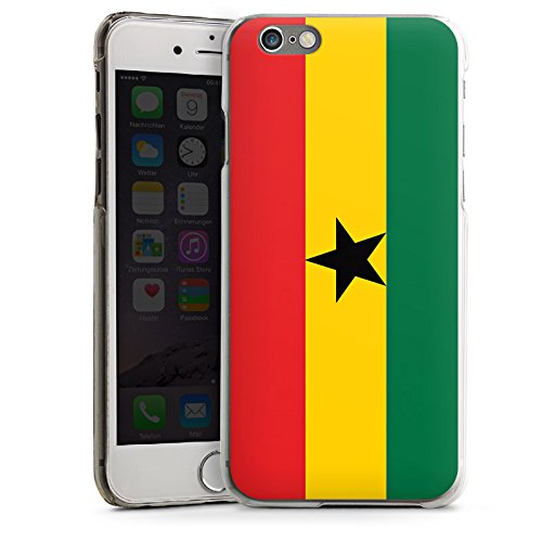 Apple iPhone 5s Housse Étui Protection Coque Ghana Drapeau Ballon de football CasDur transparent