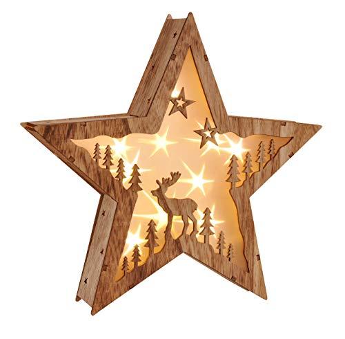 Haushalt International - Estrella Navidad LED 10LEDs