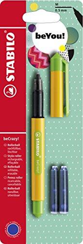 Tintenroller - STABILO beCrazy! DUOCOLORS in gelb/grün - inklusive 3 Patronen