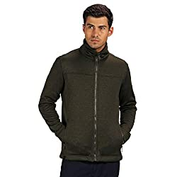 Regatta Mens Galton Knit Effect Marl Zip Up Fleece Jacket