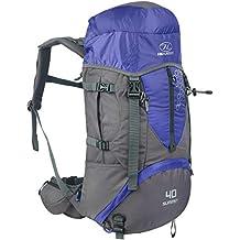 Highlander Summit Mochila de Senderismo, Unisex, Azul/Gris, 40 L