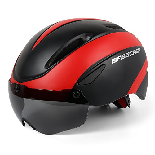 Casco Bici,Certificato CE, Casco Bici Adulti con Occhiali magnetici Staccabili Visiera Shield for Men Women Casco da Bicicletta Mountain & Road Regolabile Protezione Ski & Snowboard