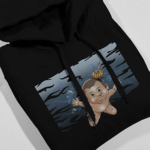 Stranger Things Nirvana Album Cover Strangermind Women's Hooded Sweatshirt Black