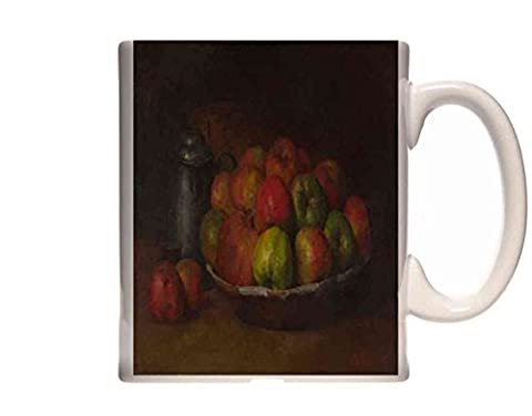 Mug Gustave Courbet Still Life with Apples and a Pomegranate Ceramic Cup Gift Box