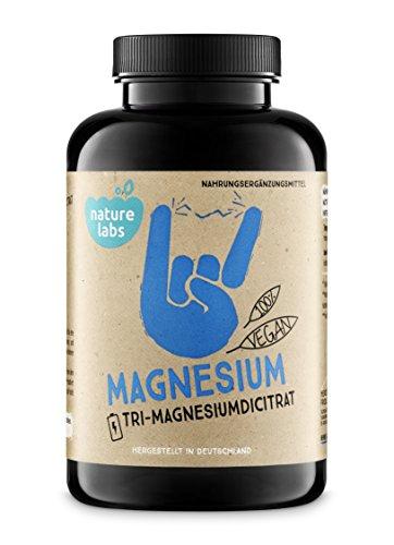 Magnesium 180 vegane Kapseln. Hochdosiert, 2070 mg Magnesiumcitrat, davon 325 mg Magnesium pro Tagesdosis.Vegan. Laborgeprüft, Ohne Zusätze, Ohne Magnesiumstearat. Hergestellt In Deutschland.