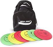 مجموعة جولف قرص WEN JIAN ، مجموعة أسطوانات الجولف مع 6 أقراص - 2 قطعة سائق ، 2 قطعة متوسط المدى، قطعتان من الم