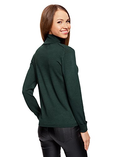 oodji Collection Damen Strickpullover Basic Grün (6E00N)