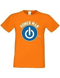 Geschenk zum Geburtstag Herren T-Shirt Power Man Geschenk Idee Männer Papa Opa Großvater Ruhestand Rente