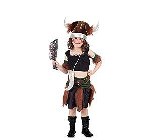 Fyasa 705934-t02Viking disfraz de niña, tamaño mediano