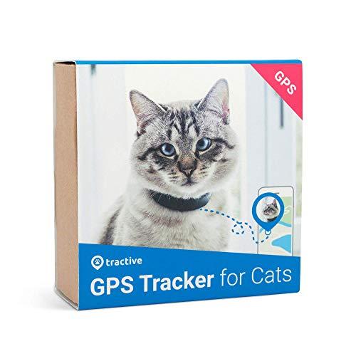 Tractive Localizador GPS para gatos - Collar GPS con mecanismo de apertura y rastreador resistente al agua