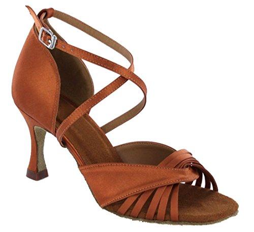 TDA ,  Damen Peep Toes 7.5cm Bronze