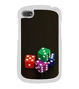 Colourful Dice 2D Hard Polycarbonate Designer Back Case Cover for BlackBerry Q10