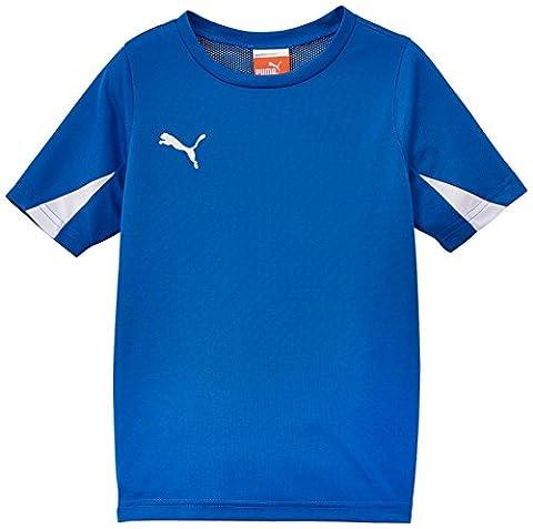 Puma Team Maillot football garçon Bleu Royal/Blanc FR : 14 ans (Taille Fabricant : 164)