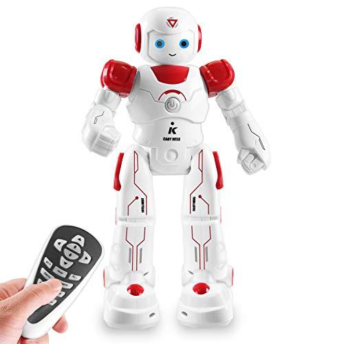 HBUDS intelligenter and programmierbarer ferngesteuerter Roboter für Kinder. Anfängers MINT Spielzeug Roboterfreund für Kinder fürs Lernen und Spielen. (Rot)