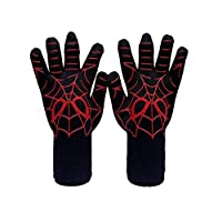 BBQ Mitts Oven Mitts Gloves BBQ Grilling Cooking Gloves Extreme Heat Resistant Gloves Long For Extra Forearm Protection