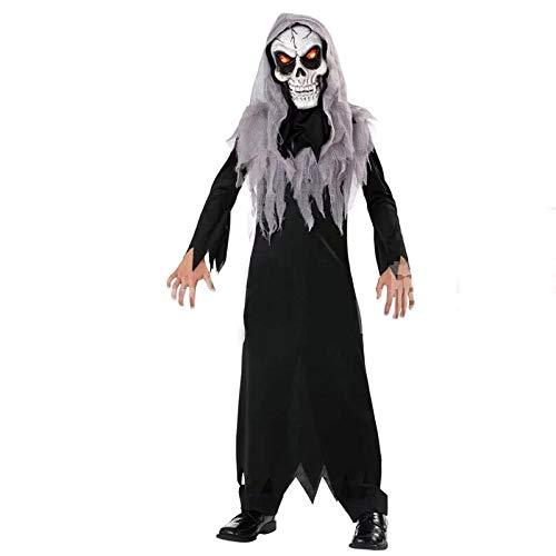 Forever young - costume di halloween per bambini, con maschera luminosa nero età 11-12