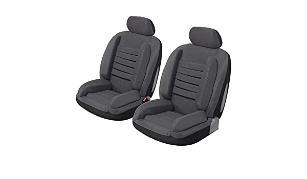 Lot de 2 Housses si/ège auto voiture universelles noir gris ergonomique. anti mal de dos super confort