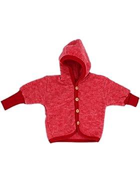 Cosilana Baby Jäckchen mit Kapuze aus weichem Wollfleece, 100% Schurwolle kbT