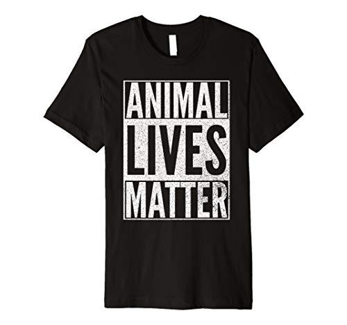 ANIMAL LIVES MATTER Vegan Rights Lover Vegetarian T Shirt