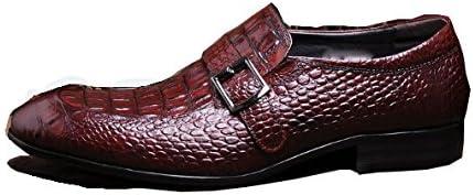 NIUMJ Scarpe da Uomo in Pelle Set di Piedi Piedi Piedi Appuntito Scarpe di Tendenza Scarpe Britanniche Scarpe Coreane Modello di Coccodrillo Scarpe Basse Resistente all'Usura B07FCRX7D3 Parent | Bello e affascinante  | Aspetto estetico  4210e6