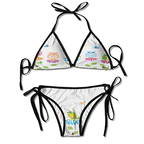 Removable Strap Wrap Bikini,on Chamomile Daisy Flowers Sexy Bikini 2 Pieces -
