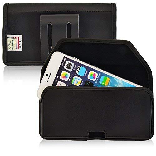 Turtleback Kompatibel mit Apple iPhone 6S Plus, 6Plus Schwarz Gürteltasche Leder Tasche mit Executive Gürtelclip Quertasche Made in USA, Black Leather/Belt Loop Executive Leder-cell