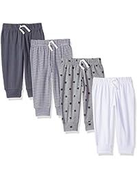 Amazon Essentials – Pantalones con cintura elástica para niño (4 unidades)