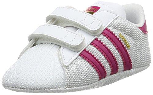 adidas Unisex Baby Superstar Crib Gymnastikschuhe, Elfenbein (FTWR White/Bold Pink/FTWR White), 21 EU - Adidas Kids Stan Smith