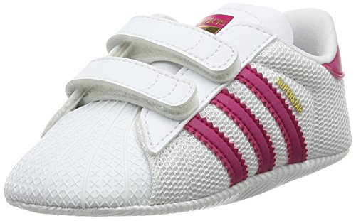 adidas Superstar, Sneakers Basses Mixte Bébé, Blanc (Footwear White/Real Pink/Footwear White), 19 EU