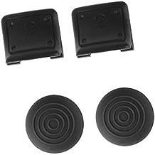 Tapas De Agarre 4en1 Doble Disparadores + Pulgar De Silicona Cubren Para El Regulador Ps3 Sony