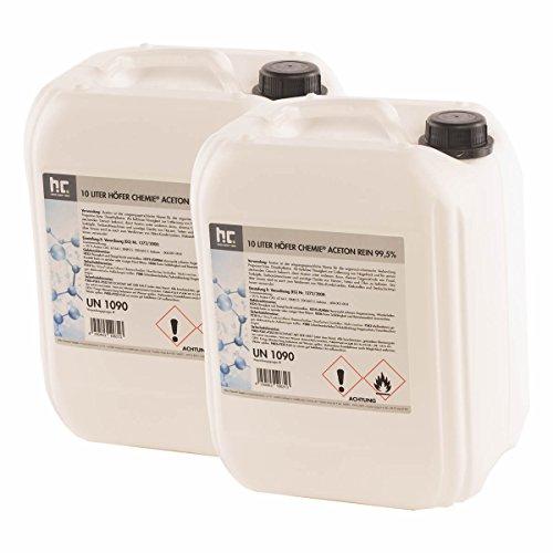 2 x 10 L Aceton rein 99,5% - VERSANDKOSTENFREI - frisch abgefüllt - im praktischen 10L Kanister