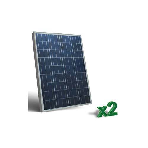 Solar-panel Wohnmobil Watt 200 (Set 2 x 100W 12V Photovoltaik Solar Panel tot. 200W Wohnmobil Boot Hütte)
