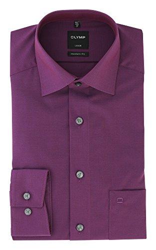 OLYMP Hemd Luxor Modern Fit Business- und Freizeithemd aus 100% Baumwolle mit New Kent Kragen in Fuchsia, Größe:37