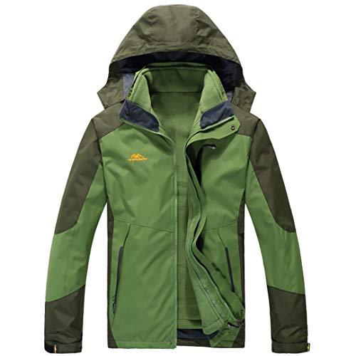 KT&Jacket Zwei-in-One Plus Size Wasserdichte Winterjacke Männer Warme Parkas Abnehmbare Kapuze Wintermantel 1 5XL