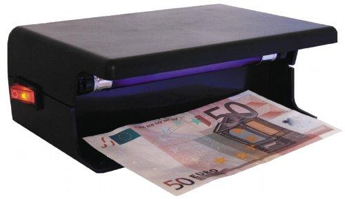 Geldscheinprüfer für 230V Tischgerät mit UV-Neonlampe, Geldscheinprüfgerät