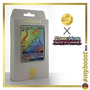 Amfira-GX (Salazzle-GX) 151/147 Arcoíris Secreta - #myboost X Sonne & Mond 3 Nacht in Flammen - Box de 10 Cartas Pokémon Aleman