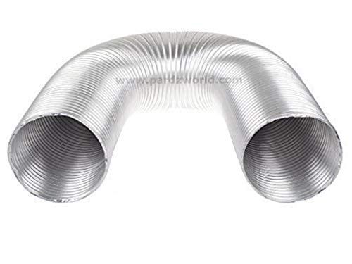 Pardzworld Chimney Aluminium Exhaust Pipe 4 Inch Dia Expandable Up to 10 Feet (Silver)
