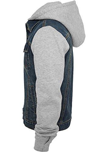 Urban Classics Herren Jacke Hooded Denim Fleece Jacket Denimblue