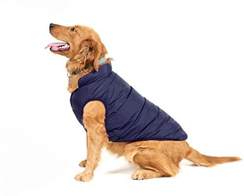 PENVO Ropa para perros de mascotas, abrigos y chaquetas impermeables de invierno para perros pequeños y medianos grandes chaleco de perro cachorro traje de suéter (Azul, XXXL)