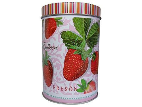 Boîte à thé en métal 180 g de couleur rouge vif fraises strawberry &jameson tai