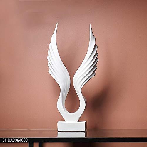 ür den Lehrer nach Hause TV-Schrank Weinschrank einfache Moderne Flügel Dekoration nordischen Stil Thema Restaurant Bar Dekoration Schmuck Dekoration, weiße Flügel ()