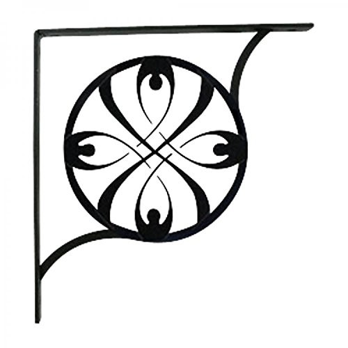 SB-155-L RIBBON SHELF BRACKETS LARGE BY VILLAGE WROUGHT IRON