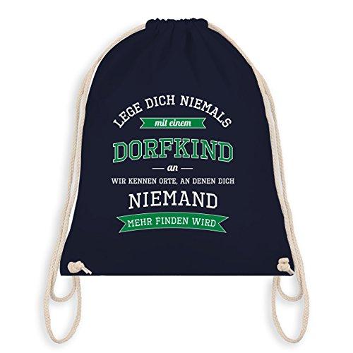 Sprüche - Lege dich niemals mit einem Dorfkind an - Unisize - Navy Blau - WM110 - Turnbeutel & Gym Bag