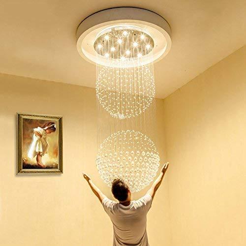 XCJ Ellie Chandelier - Villa Restaurant, Doppel-Lounge, Zyklus Lange Treppe Kronleuchter, Innenbeleuchtung,8 Lichter / 60 * 150cm -