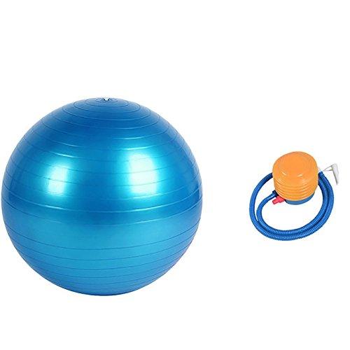 GUTEINTE Palla Fitness e Pompa d'aria, Palla da Ginnastica per Yoga, Fitness, Sedia, Pilates e Massaggi, Equilibrio di Stabilità, Anti-Scivolo e Anti-Scoppio, Unisex (BLU, 75CM)