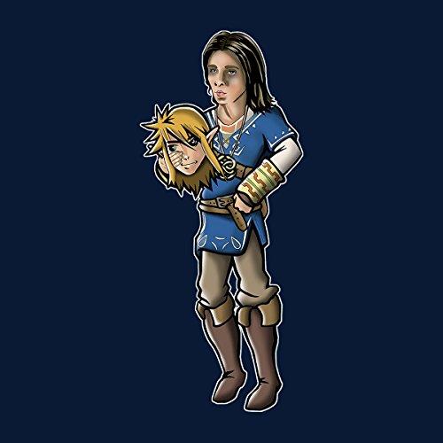 Zelda Neverending Story Hero Men's Vest Navy Blue