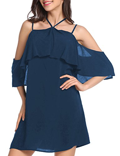 Vessos - Tuta - halterneck -  donna Navy blue