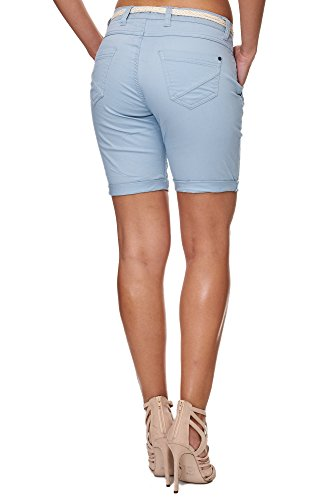 SUBLEVEL Damen D6055Z60379 Chino Shorts Middle Blue