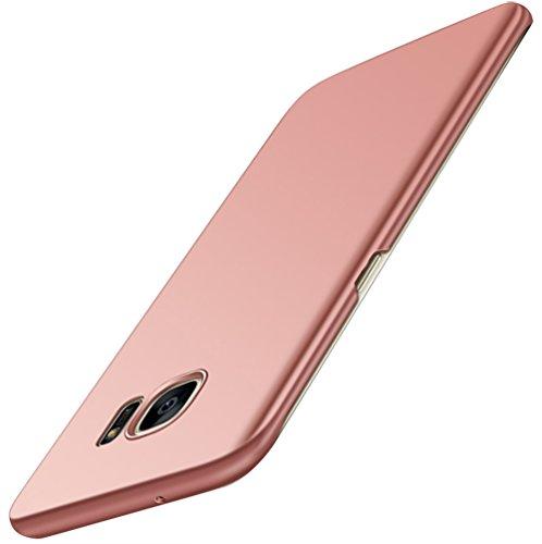 vanki Samsung Galaxy S6 edge Plus Hülle Hart PC Schutzhülle Case Cover Bumper Anti-Scratch Handyhülle für Samsung Galaxy S6 (Samsung Galaxy S6 edge plus, Rosa) (Hart, Hut, Zubehör)