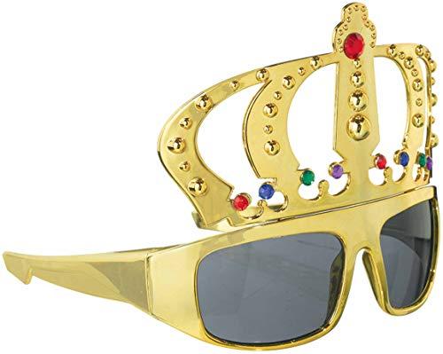 Kostüm Lustig Duo - amscan 250493-55 Spaß-Brille König, Mehrfarbig